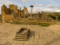 volubilis altar Meknes, Moulay Idriss, Imperial City, Morocco, Africa