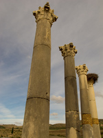 volubilis greek columns Meknes, Moulay Idriss, Imperial City, Morocco, Africa