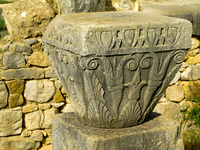 roman column capital Meknes, Moulay Idriss, Imperial City, Morocco, Africa