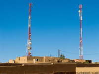 tv towers of merzouga Merzouga, Sahara, Morocco, Africa