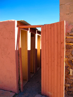 film outhouse Ouarzazate, Interior, Morocco, Africa