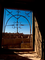 iron cast windows Ouarzazate, Interior, Morocco, Africa