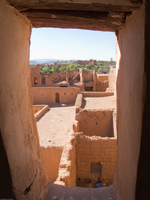 castle windows Ouarzazate, Interior, Morocco, Africa