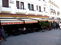 cafe central in petit socco Tangier, Mediterranean, Morocco, Africa