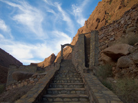 hotel festival staircase La Festival, Todra Gorge, Morocco, Africa