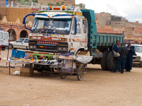 tinghir market truck Boumalne, Tinghir, Dades Valley, Todra Gorge, Morocco, Africa