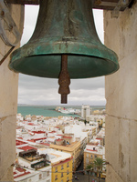 cadiz cathedral bell Cadiz, Andalucia, Spain, Europe