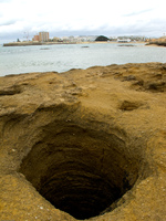 sinkhole Cadiz, Andalucia, Spain, Europe