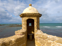 castillo de santa catalina watchtower Cadiz, Andalucia, Spain, Europe