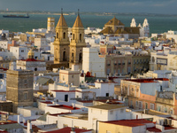 view--cadiz church Cadiz, Andalucia, Spain, Europe