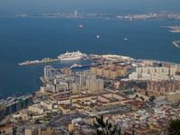 gibraltar cruise ship port Gibraltar, Algeciras, Cadiz, Andalucia, Spain, Europe