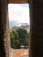 arrow slit from malaga Malaga, Andalucia, Spain, Europe