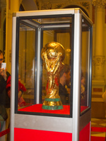 fifa world cup trophy 2010 Seville, Malaga, Andalucia, Spain, Europe