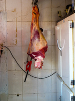 road side meat stop - obviously not vegetarian friendly Ouarzazate, Interior, Morocco, Africa