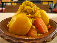 veggie tagine in vieux chateau du dades Ouarzazate, Boumaline, Dades Valley, Morocco, Africa