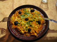berber omelet in vieux chateau Boumalne, Dades Valley, Morocco, Africa