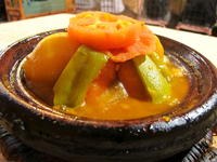 veggie tagine in vieux chateau Ait Arbi, Dades Valley, Morocco, Africa