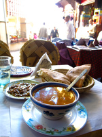 moroccan veggie soup at thami Fez, Imperial City, Morocco, Africa