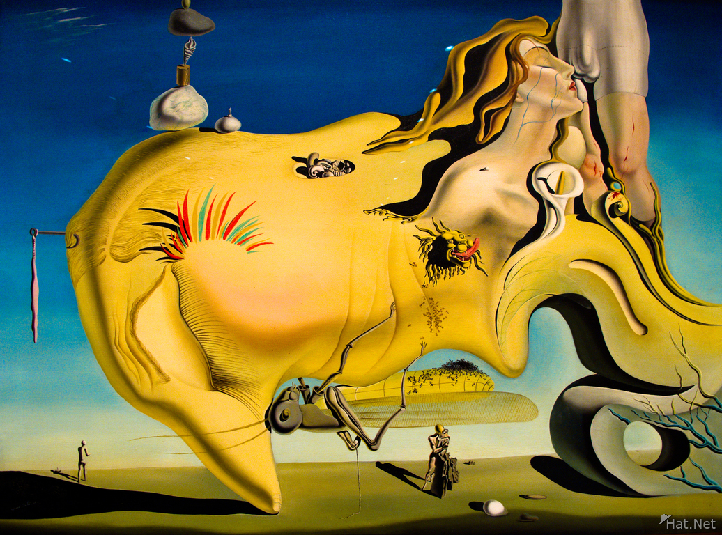 view--face of the great masturbator 1929 by salvador dali