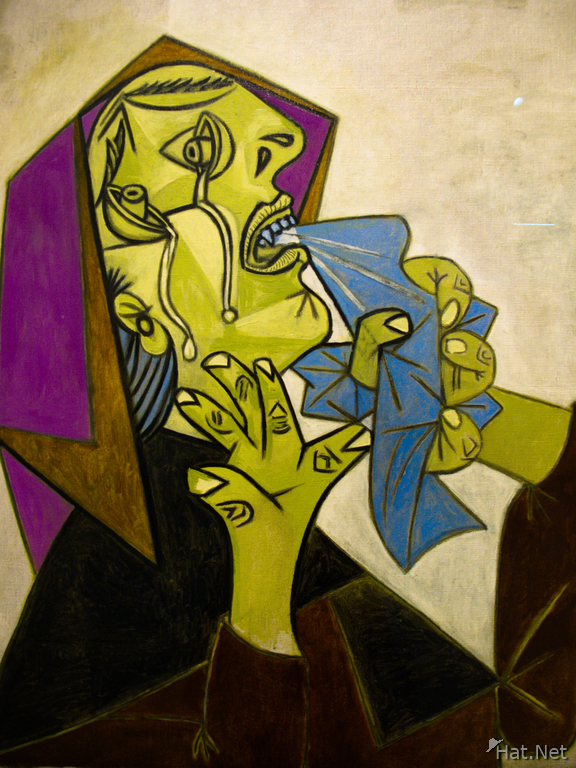 head of crying woman with handkerchief iii by pablo picasso