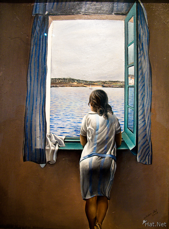 view--girl at the window by salvador dali
