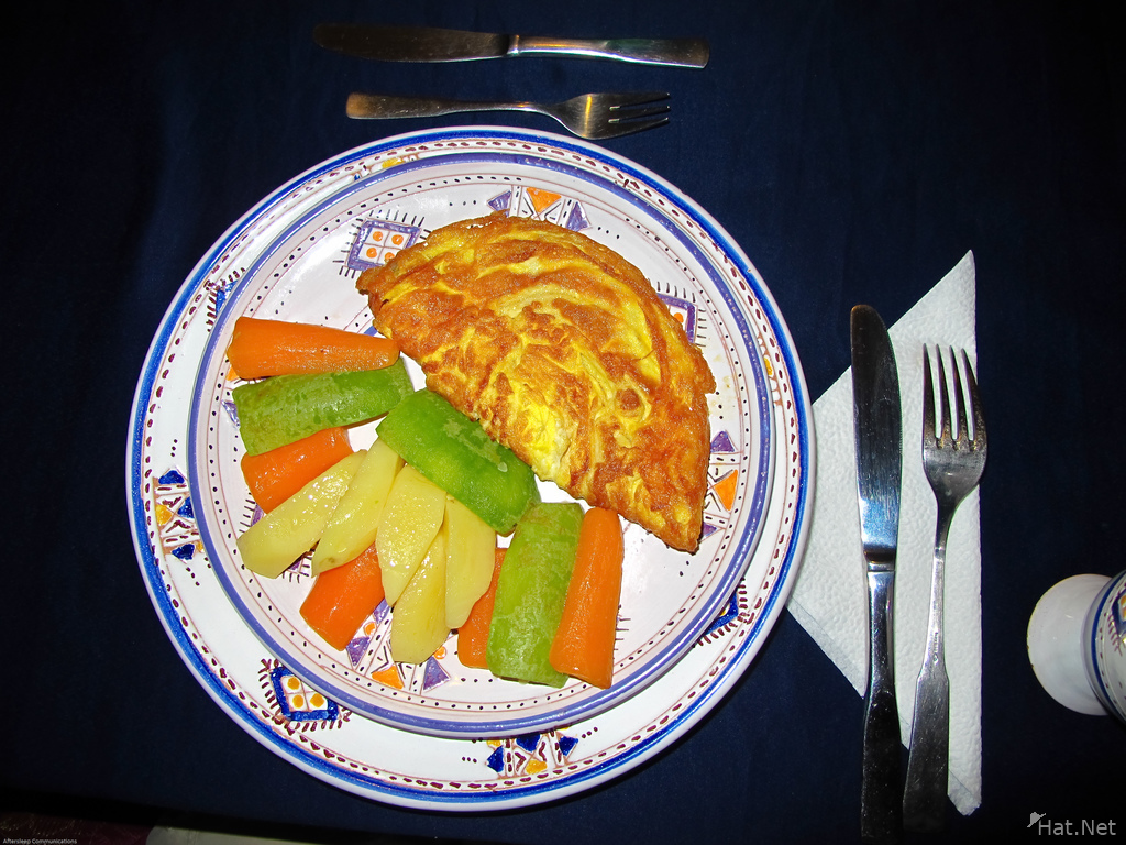 view--vegeterian omelet at totmaroc