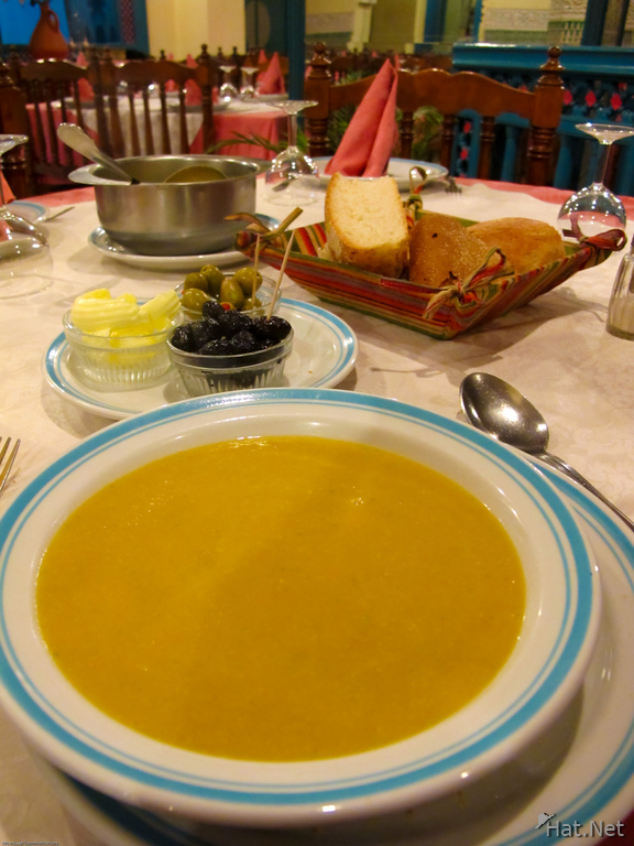 view--soup at akouas restaurant