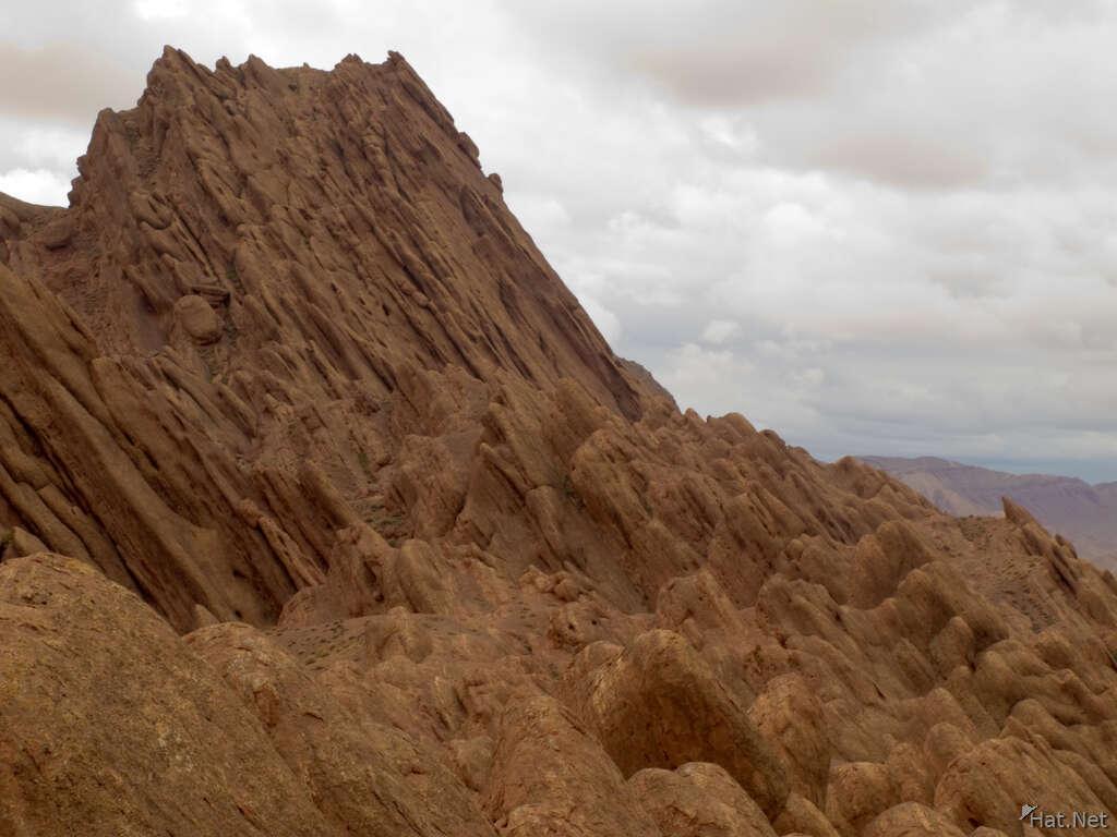 Morocco, Dades Gorge, Ait Ouglif village old mud Kasbahs
