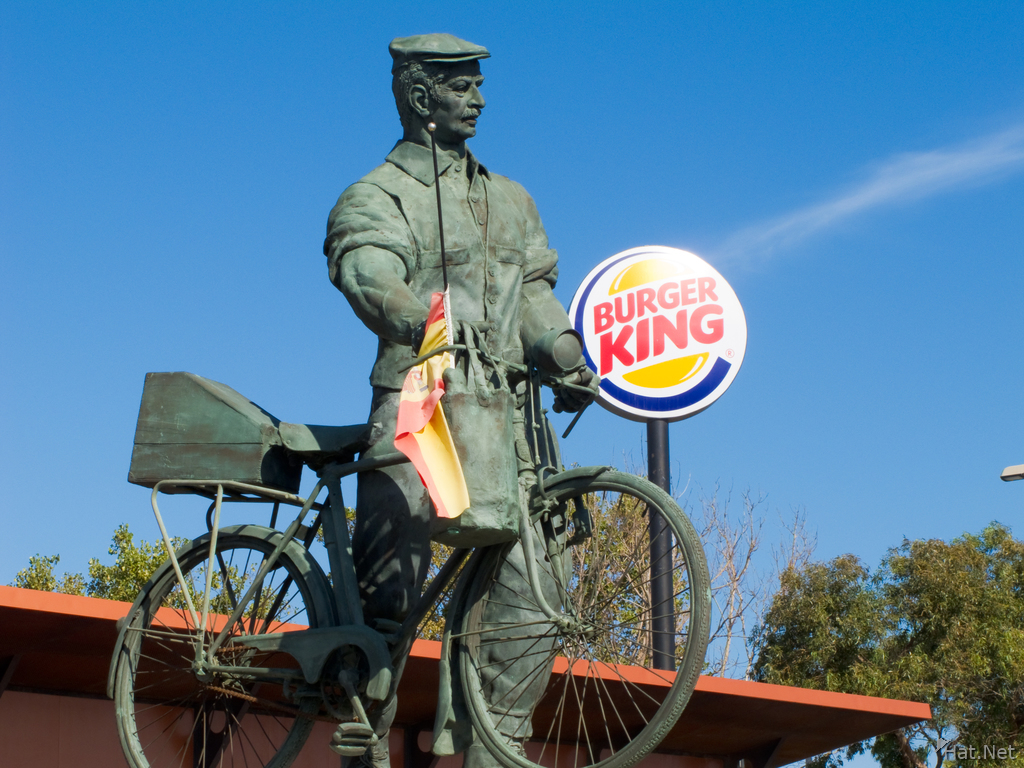 view--burger king bicycle