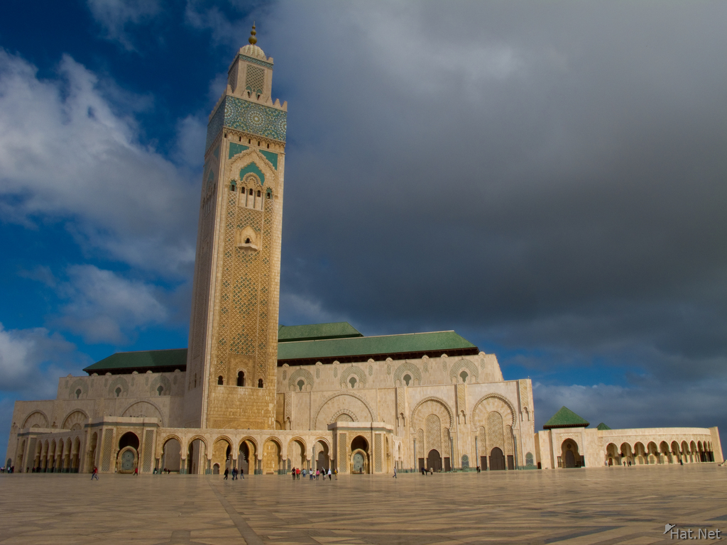 view--grand mosque of casablanca