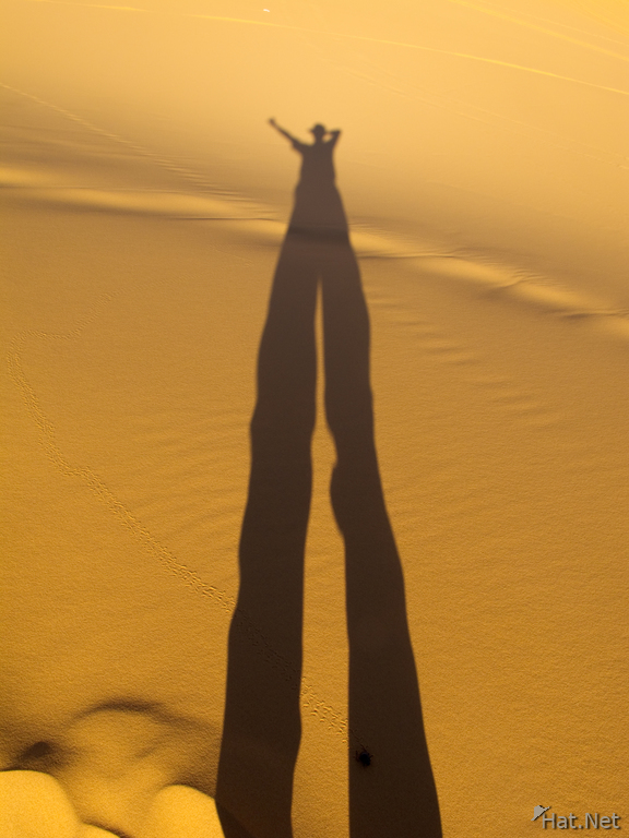 view--tall shadow in desert