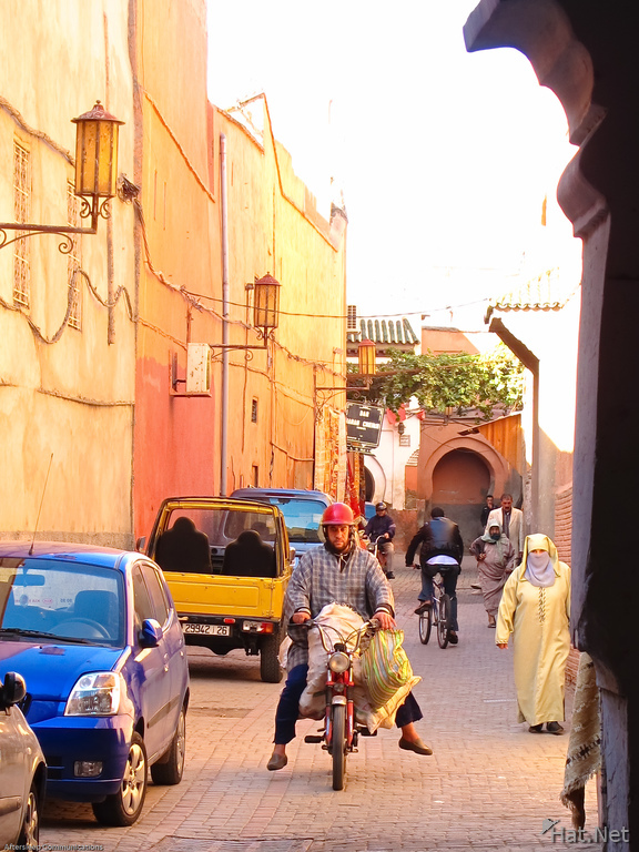 view--street of marrakech