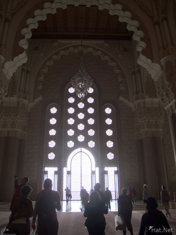 windows from hassan ii mosque