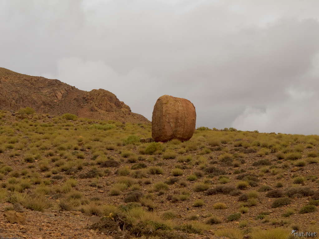 lone rock in dades valley