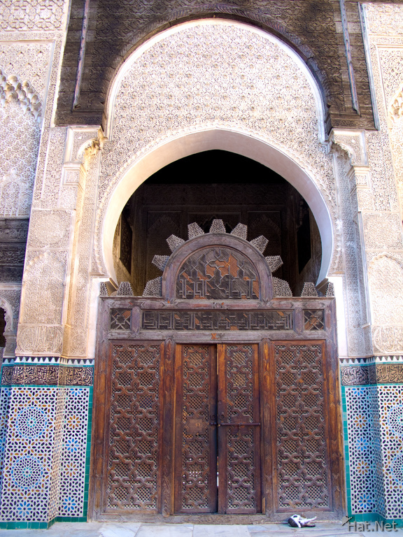 medersa bou inaina decorated gate
