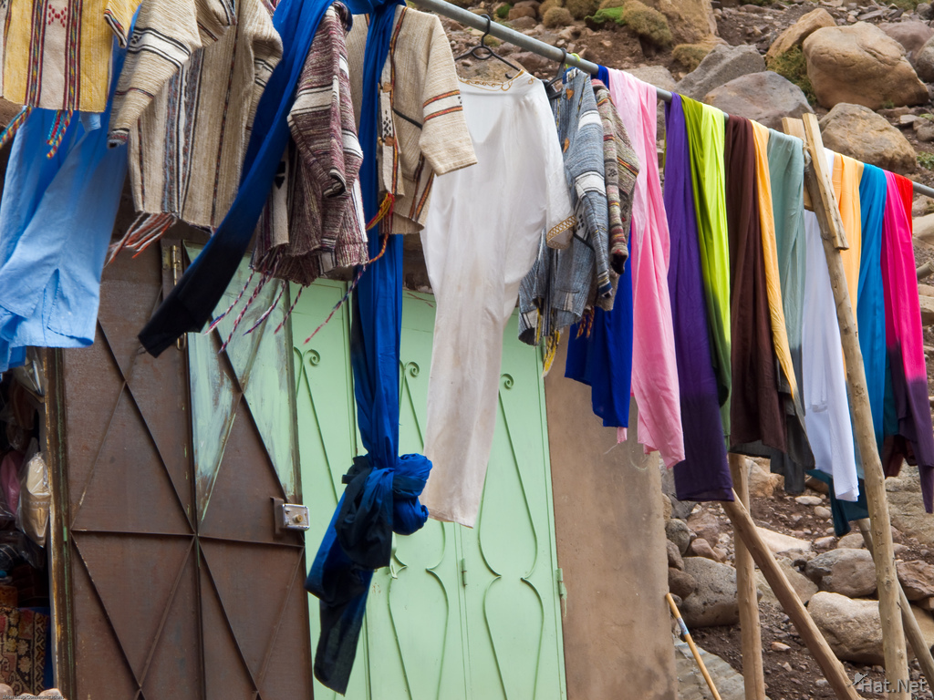 drying clothes