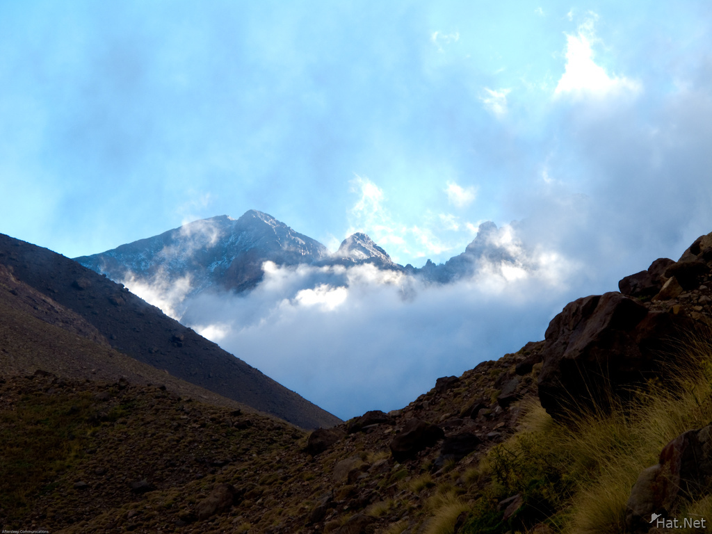 toubkal shrouded in cloud