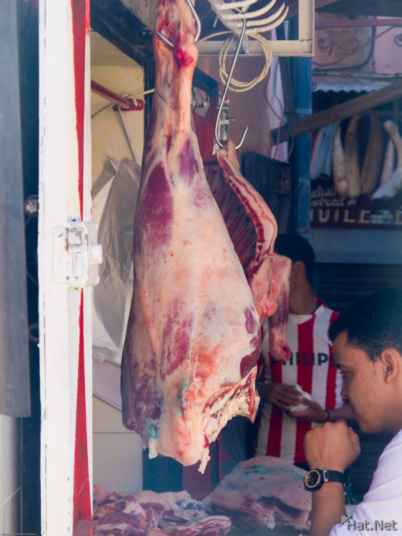meat stand in marrakech