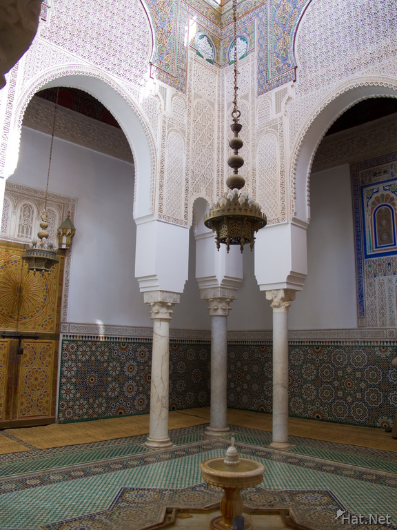 mausolee moulay ismail fountain