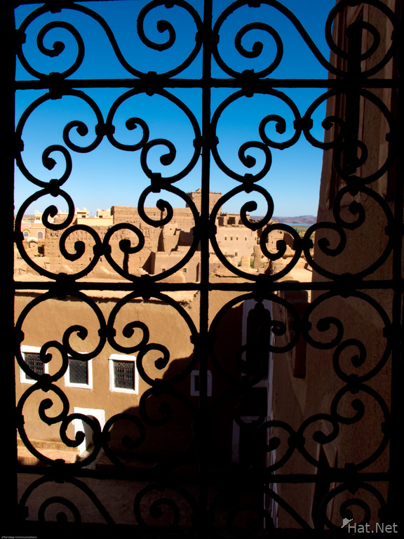 taoutirt kasbah windows shadow