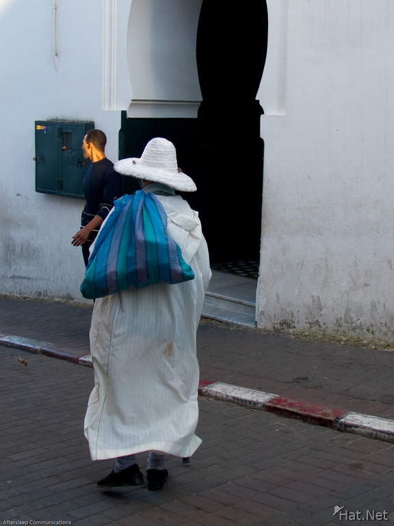 tangier man carrying sack