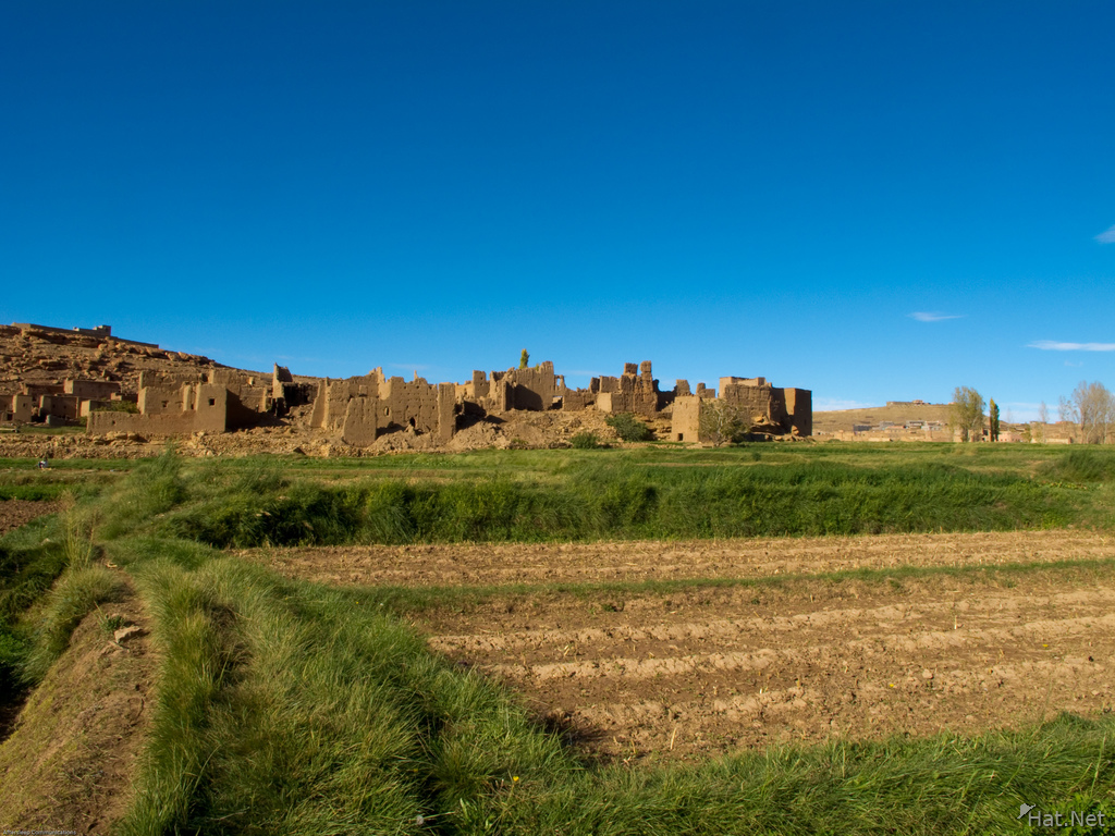 ancient kasbah and farmland