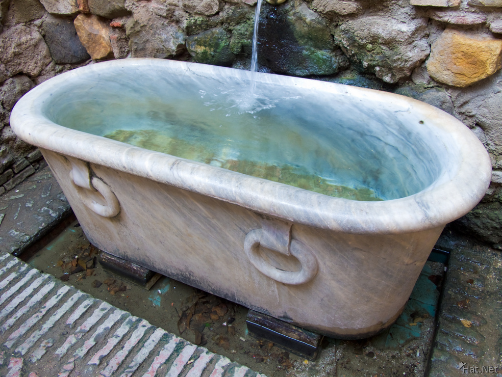 water tub in halls of granada