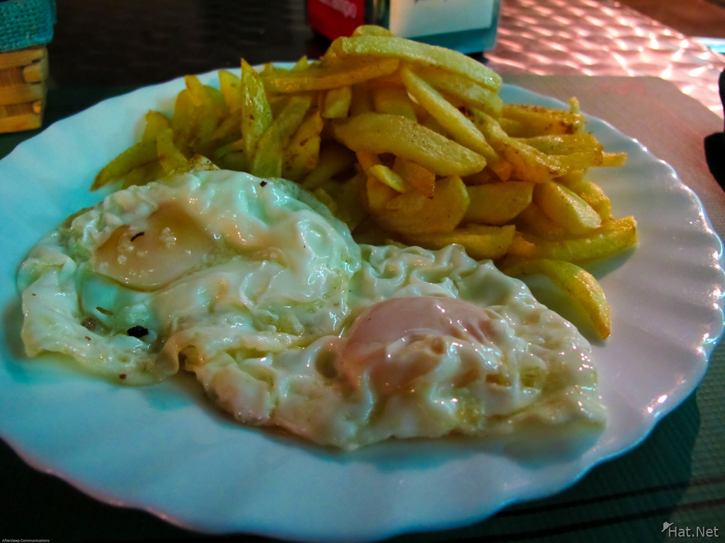 food--eggs and fries
