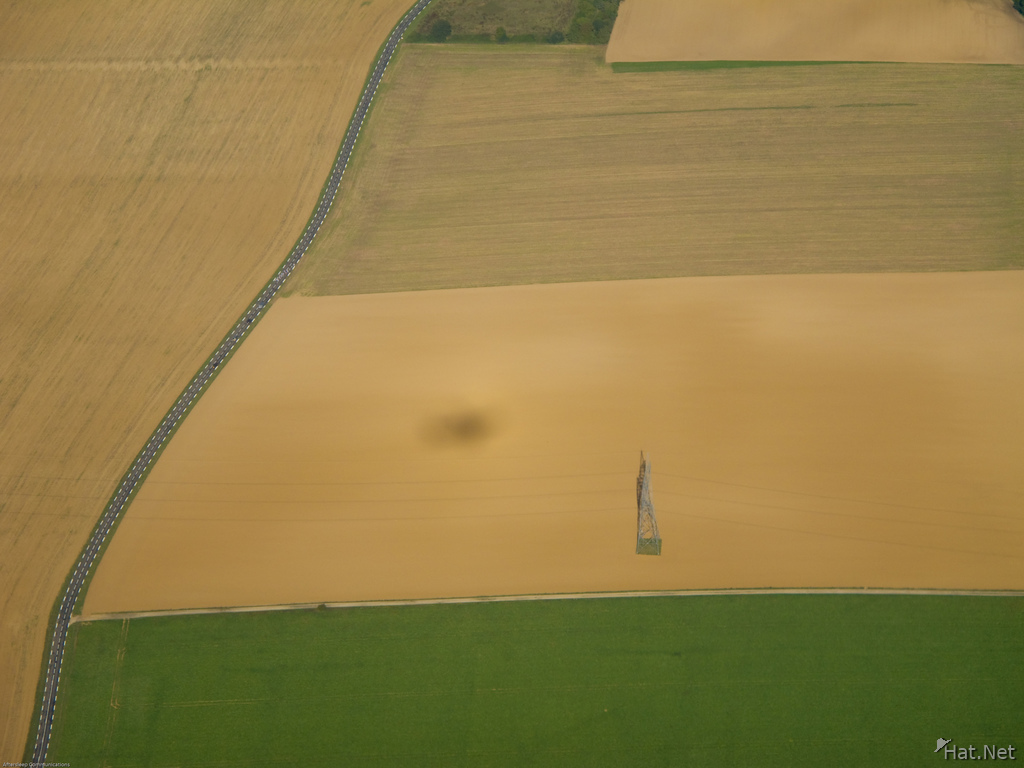 aero photo of farmland near paris