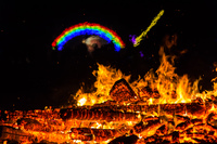 burning rainbow Black Rock City,  Nevada,  United States, North America