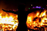 dance in fire Black Rock City,  Nevada,  United States, North America