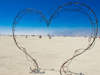 love in desert Black Rock City,  Nevada,  United States, North America