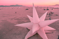 star of the desert Black Rock City,  Nevada,  United States, North America