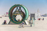 Green Wheel Black Rock City,  Nevada,  United States, North America